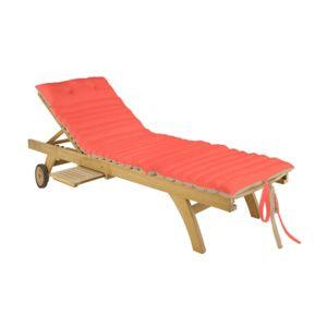 lovely casa coussin bain de soleil 170x60x5cm duo lin corail matelass 100 coton pas cher. Black Bedroom Furniture Sets. Home Design Ideas