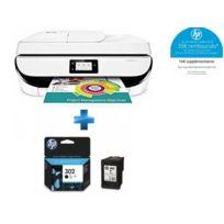HP - OfficeJet 5232 multifonction 3 en 1 + F6U66AE - Cartouche d'encre 302 Noir