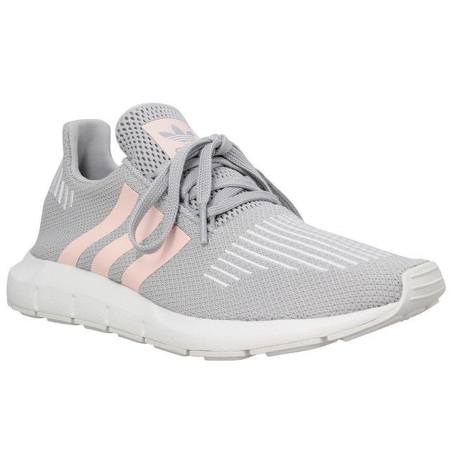 ccaf0c3ab445 Adidas - Swift Run toile Femme-38-Gris - pas cher Achat   Vente Baskets  femme - RueDuCommerce
