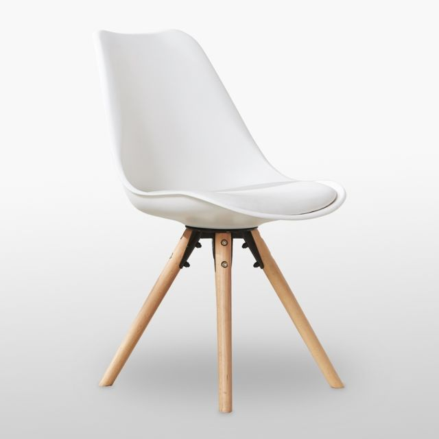 Chaise Scandinave Blanche Sophie Rembourree