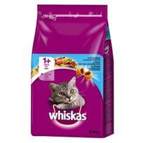 Whiskas - Croquettes +1 au Thon pour Chat - 3,8Kg