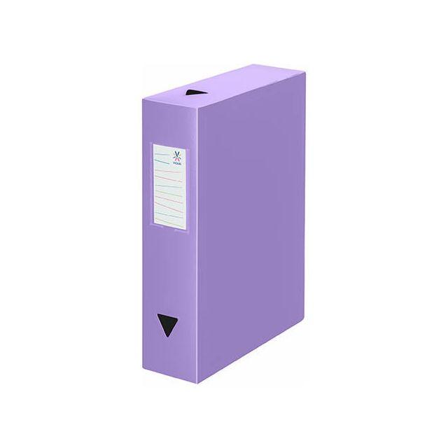 viquel bo te de classement plastique dos 8 cm violette lot de 6 pas cher achat vente. Black Bedroom Furniture Sets. Home Design Ideas