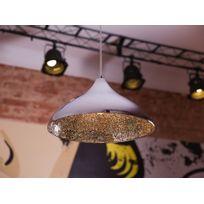 Beliani - Lampe de plafond - suspension - luminaire argenté - Iskar