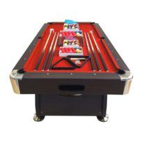Simba - Billard Americain 250cm rouge - Neuf - table de billard Snooker 8 ft dimensions de jeu 220 x 110 cm