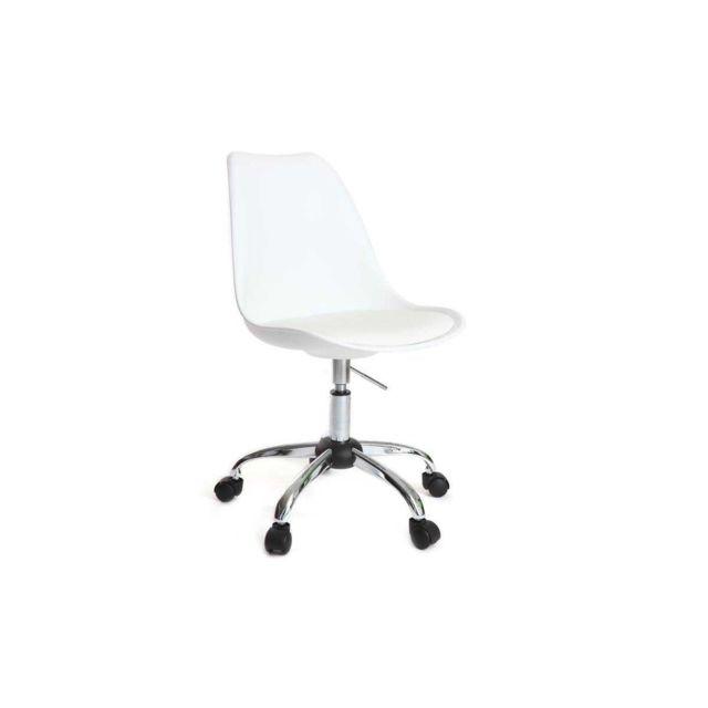 Chaise roulettes blanche New design à Steevy xoerdCBW