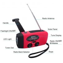 Batterie Solaire Lampe Chargeur De 300mah Météo Led Amfm Radio Téléphone Portable Poche ikOwlPXuTZ