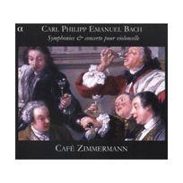 Alpha - Carl Philipp Emanuel Bach: Symphonies & Concertos pour violoncelle