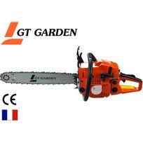 Gt Garden - Tronçonneuse thermique 58 cm3, 3.5 Cv, guide 50 cm, 2 chaînes