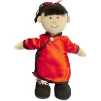 Miniland - poupée ethnique en tissu. type fille d'asie. hauteur 40cm