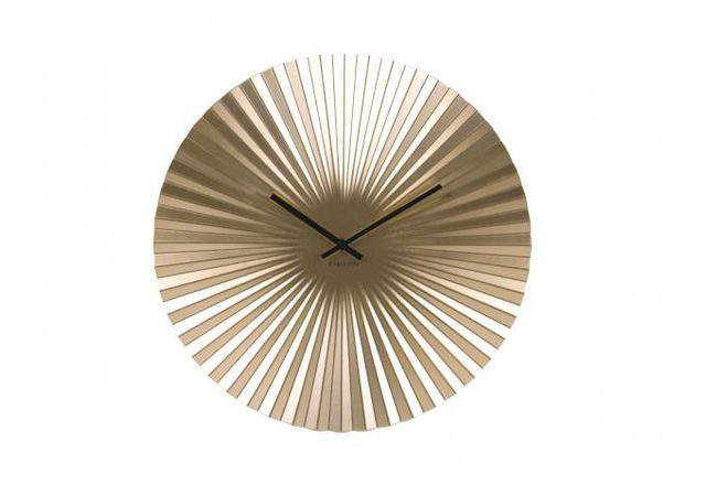 Declikdeco - Horloge Murale En Métal Or Cymbale 40cm x 40cm x 5cm