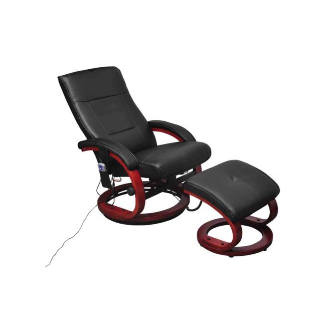 vidaxl fauteuil de relaxation massant lectrique noir pas cher achat vente le grand bazar. Black Bedroom Furniture Sets. Home Design Ideas