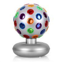 ONECONCEPT - Boule disco effet de lumière 7W argent