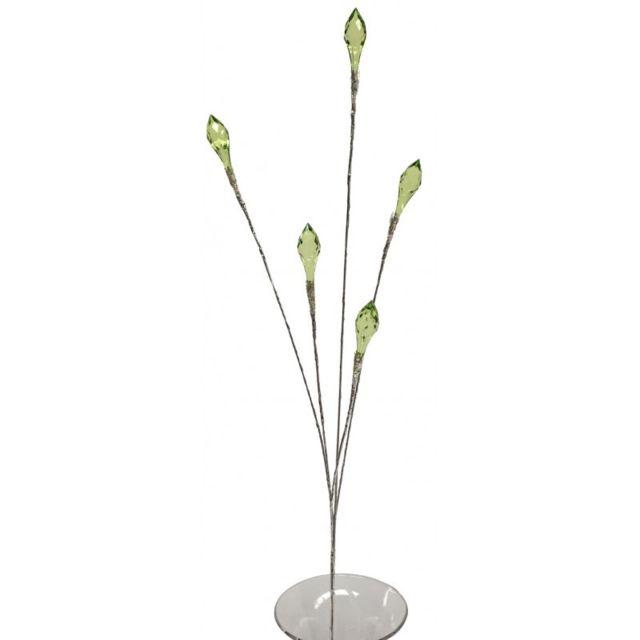 Chemin De Campagne Branche de Fleur Perle Façon Cristal 90 cm
