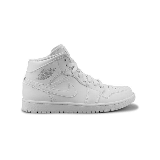 best loved 0faf3 21ced Nike - Air Jordan 1 Mid Blanc 554724-104