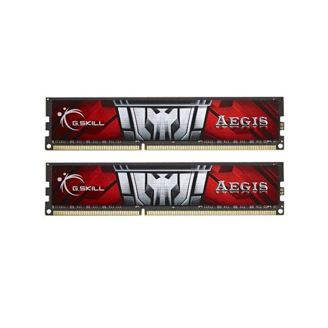 G.SKILL Memoire kit de 2 barrettes Gskill AEGIS DDR3 PC3-12800 - 2 x 8 Go 16Go, 1600 Mhz - CAS 11 Gskill AEGIS DDR3 Series : AEGIS Capacité : 2x8Go (16Go) Fréquence : 1600 Mhz Cas : 11-11-11-28-2NFormat: DIMMVoltage : 1.35 VoltsType : DDR3 Compatible uniq