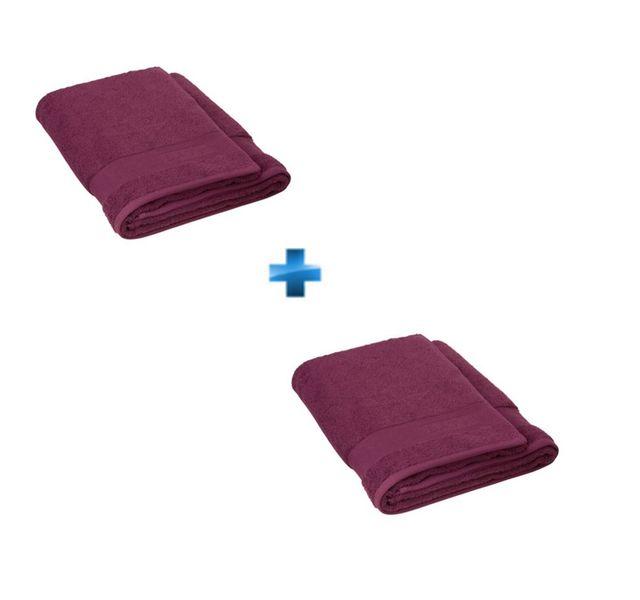 TEX HOME Lot de 2 draps de douche Violet 70X140CM - EPONGE BATH Appréciez la douceur des draps de douche de la marque TEX HOME ! Coloris violet. Dimensions : 70x140 cm. Matière : éponge 100% coton, 450g/m². Ce produit fait partie