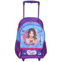 Violetta - sac à dos roulettes trolley scolaire école fille Disney - Violet