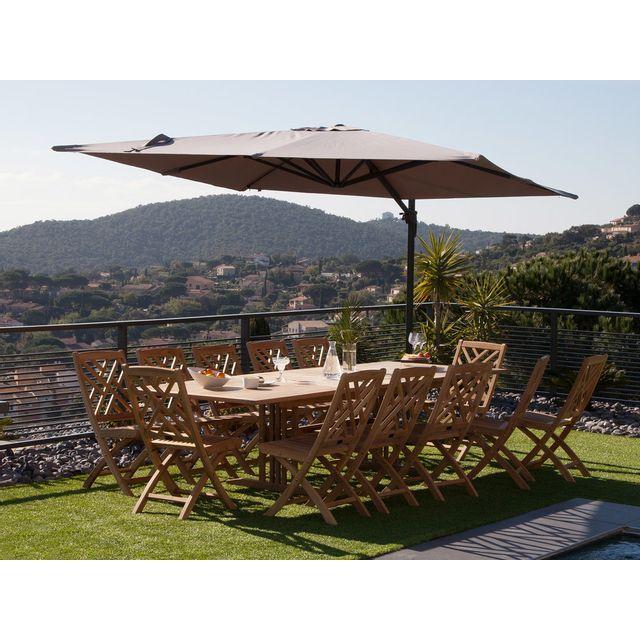 dlm parasol d port rectangulaire 4x3 m en aluminium et. Black Bedroom Furniture Sets. Home Design Ideas