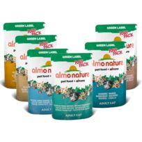 Almo Nature - Repas green label raw pack wet pour chat Filet de Poulet avec jambon