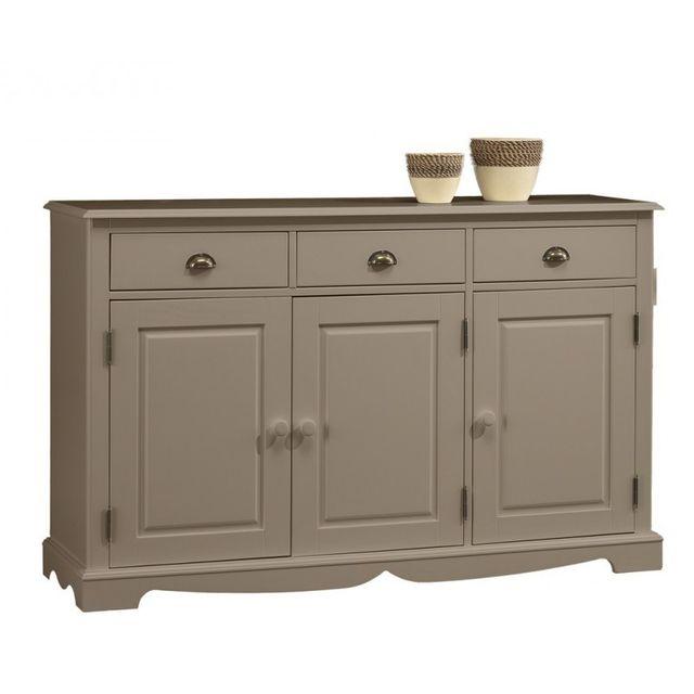 Beaux meubles pas chers buffet taupe 3 portes 3 tiroirs pas cher achat vente buffets - Avis beaux meubles pas cher com ...