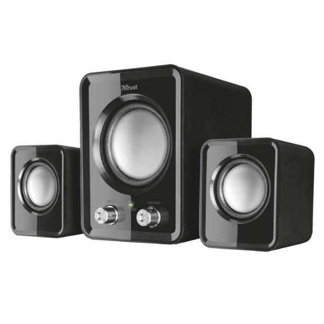 Trust Ziva Compact Speaker Set- Noir Ziva Compact Speaker Set- Noir - Enceinte Pc 2.1