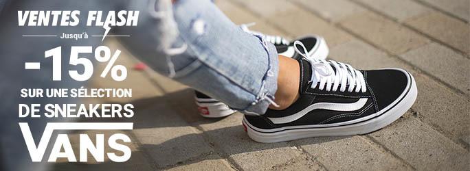Ventes Flash Mode - -15% sur une sélection de sneakers Vans