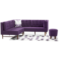 homense canape dangle gauche malet violet