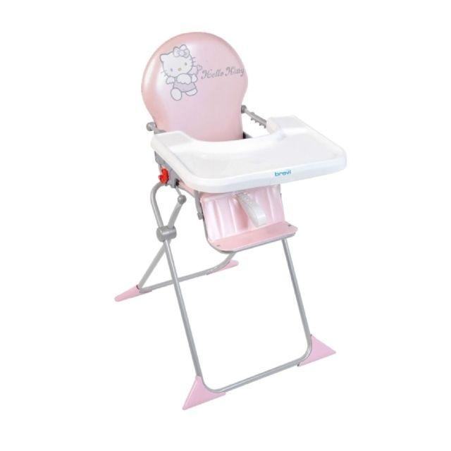 BREVI Chaise haute bébé Hello Kitty Rose pas cher