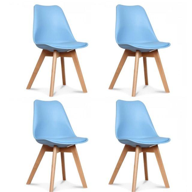 Clair De Lot 4 75 Scandinave Design Bleue Inside Chaises Oslo rdtshQ
