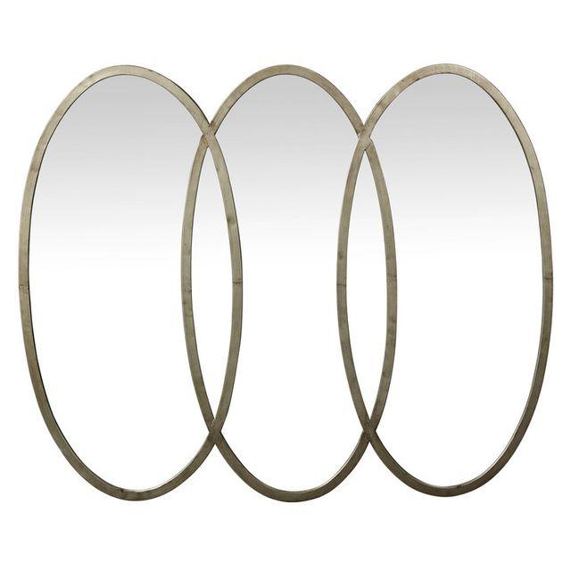 Pomax Miroir triptyque ovale en fer 108x87x3cm Lily
