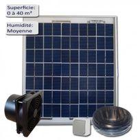 SELLANDE - KIT DE VENTILATION SOLAIRE 5W -12V VMC-EXTRACTEUR 100M3/H