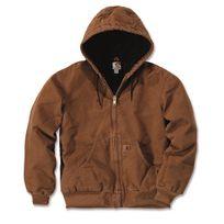 CARHARTT - Blouson court capuche Sandstone doublure marron XL S1J130211XL