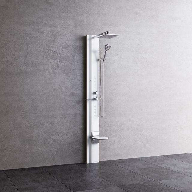 novellini colonne de douche thermostatique avec hydromassage line 1 215 cm pas cher achat. Black Bedroom Furniture Sets. Home Design Ideas
