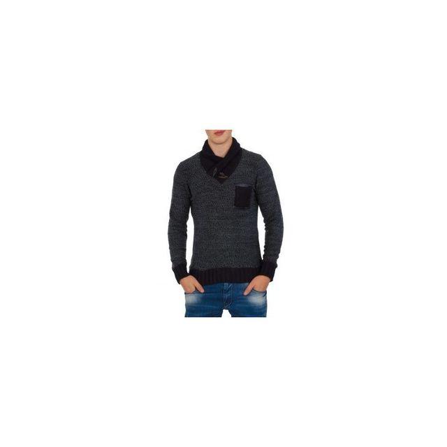 fb1cc3b6c262 Beststyle - Pull homme noir à la mode XL - pas cher Achat   Vente ...