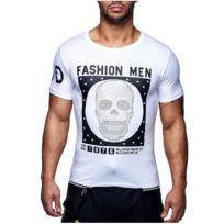 David Gerenzo - Tee shirt tête mort T-shirt G-d 114 Blanc