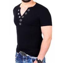 Carisma - T shirt moulant homme T-shirt 126CR noir