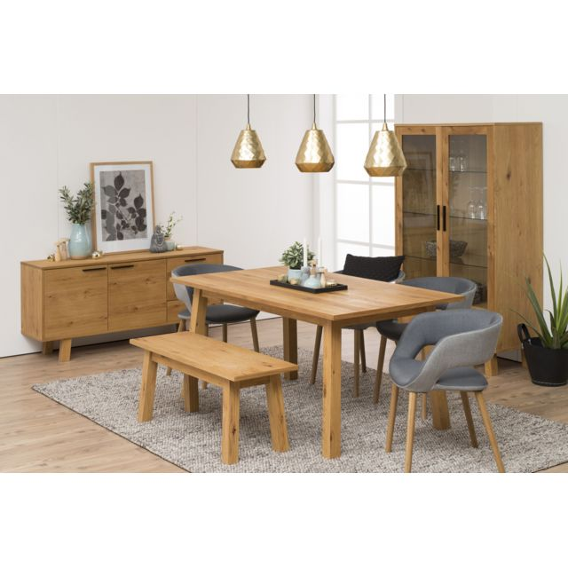 HELLIN Ensemble table CHARLES + 2 allonges