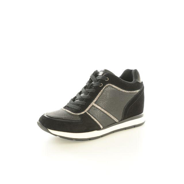 Guess - Sneakers Talons Compensés Bi Matière Fllce3 Les Noirs - 39 - pas  cher Achat   Vente Baskets femme - RueDuCommerce 65116a44d61