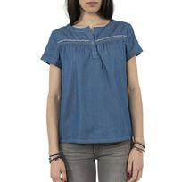 Cream - Tee shirt 10601626 filippa bleu