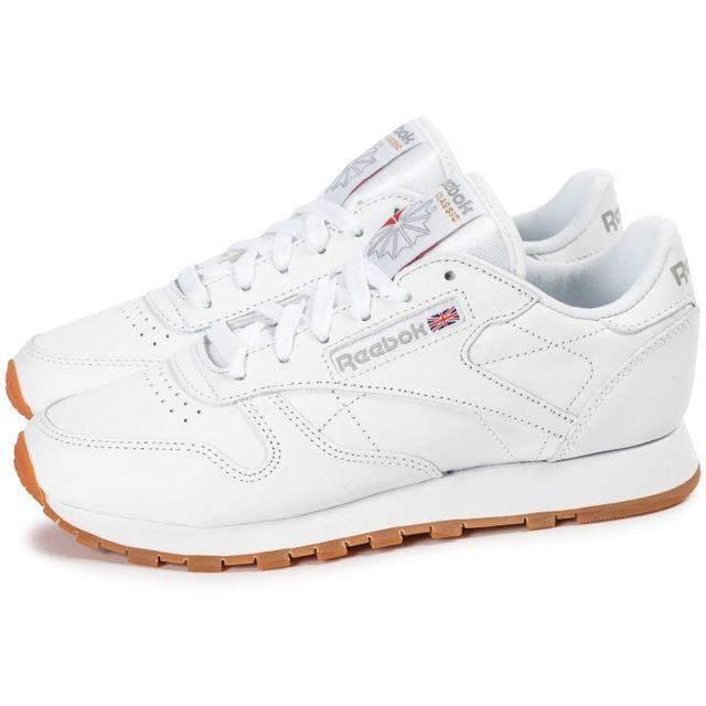 reebok classic leather w gum blanche pas cher achat. Black Bedroom Furniture Sets. Home Design Ideas