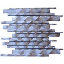 Carrelit - Plaque de mosaique Lyra en Alu brossé