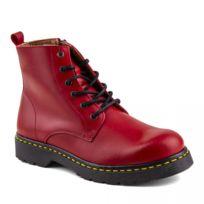 Boots Achat Cher Soldes Femme Rouge Pas S3Aqcj54RL
