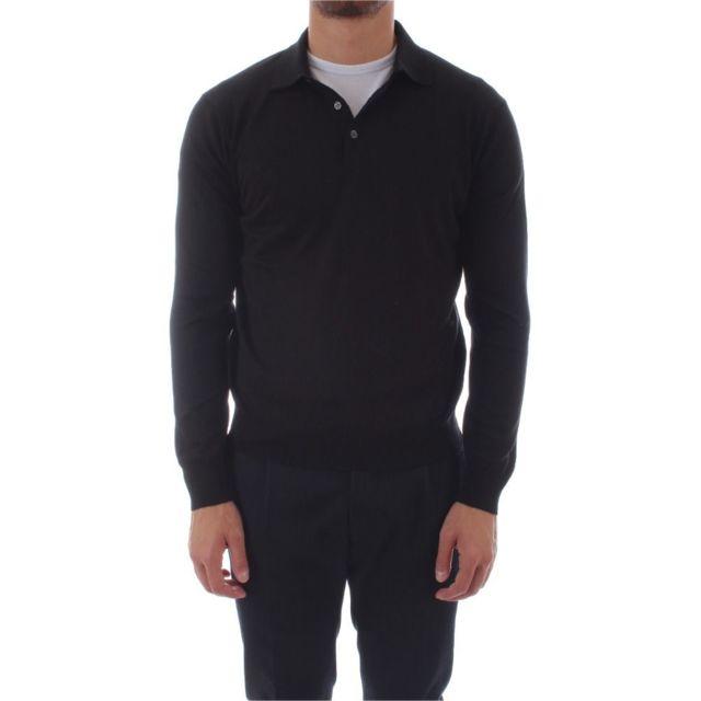 Della Ciana Homme 100150999 Noir Coton Polo