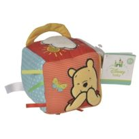 Nicotoy - Cube d'activités bébé en tissu Winnie l'ourson Disney