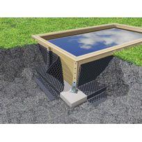 UBBINK - Nappe de protection des parois pour piscine bois L.20 x H.1,50 m