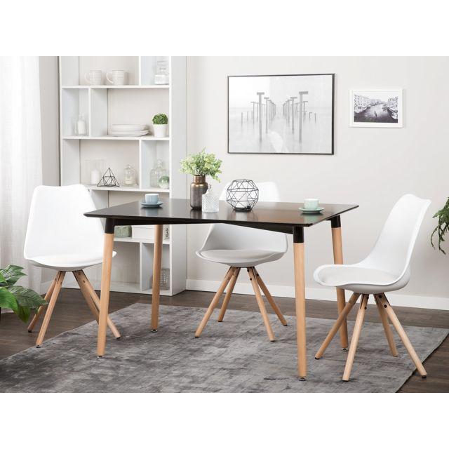 Table de salle à manger noire 120x80 cm FLY
