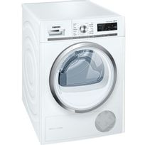 SIEMENS - sèche linge à pompe à chaleur avec condenseur 60cm 9kg a++ blanc - wt47w590ff