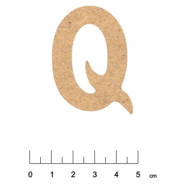 Terre & Bois CrÉATIONS - Alphabet en bois Mdf adhésif 5 cm Lettre Q - Terre et Bois Créations