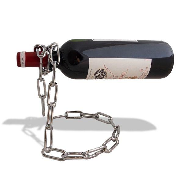 Totalcadeau Chaîne porte-bouteille