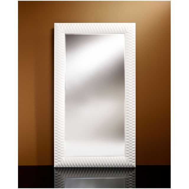 Deknudt Mirrors Miroir Contemporain Nick L White Large Rectangulaire Blanc 106x189 cm
